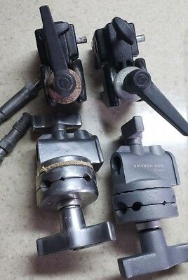 2 Manfrotto #35 with studs,  JTL and Amvona Impact grip heads