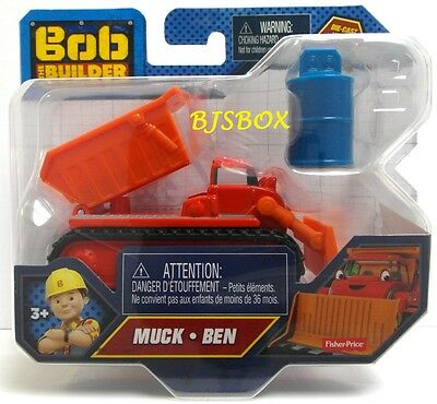 Bob The Builder Truck Muck Ben Die-Cast Vehicle CJG93 Plow Loader Tractor New