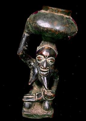 Old  Tribal Yoruba Divination Bowl Carrier        -- Nigeria