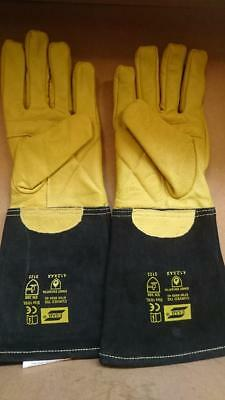 High Quality Esab Curved TIG Welders Gauntlets Welding Gloves x 1 pair size 10