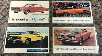 Vintage Collection of Plymouth Advertising Postcards, 21 all together