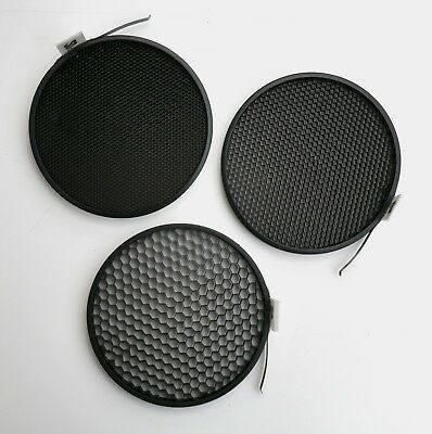 """Dyna-Lite Honeycomb Grid Spot Set 20/30/40 degrees for use with 7"""" reflectors"""