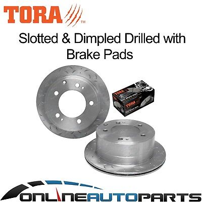 2 Rear Disc Rotors + Brake Pads suits Landcruiser VDJ76 VDJ78 VDJ79 07~13 V8 Ute