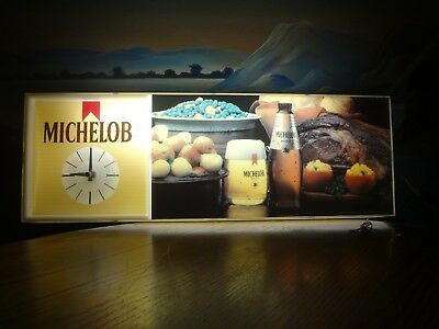 Vintage Michelob Beer Electric Lighted Wall Clock , Sign