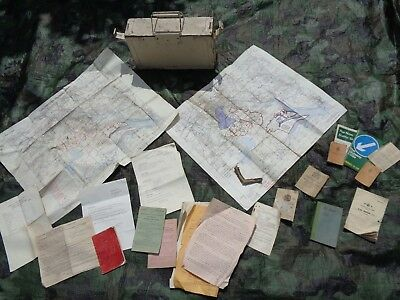 .303 AMMO BOX containing Army Documents, Maps, Soldier's Notes, Tank Connection