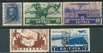 Eritrea Italian Occup. Lot Of 5 Old Used Stamps (2 Air Post Stamps) -Cag 150618