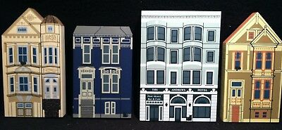The Cat's Meow Shelf Sitters~ Lot of Victorian Painted Ladies Series Houses