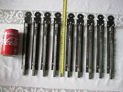 Antique Or Vintage Iron Unused Old Stock Door Gate Latch Slide Bolt Lock Shutter