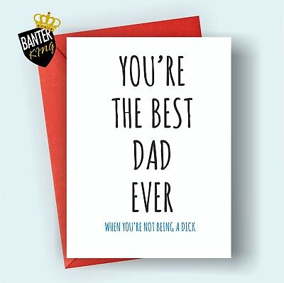 B68 Dad Happy Birthday Greetings Card Rude Funny Adult Joke Cheeky Fathers Day