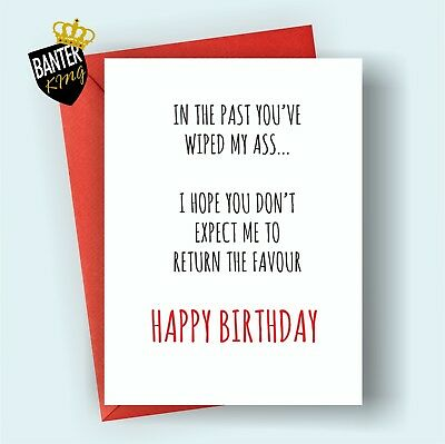 B74 Mum Dad Happy Birthday Greetings Card Rude Funny Adult Cheeky Mothers Day