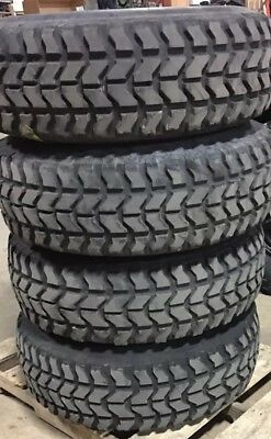 (4) Military HMMWV Goodyear 37X12.50R16.5 Humvee Tires