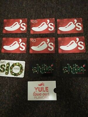 Empty Christmas Chili's gift cards-no value-collectors and crafts