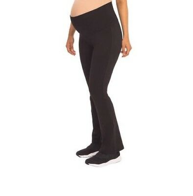 Great Expectations Blk Maternity Yoga Pants w/ Roll Down Waistband Size M (8/10)