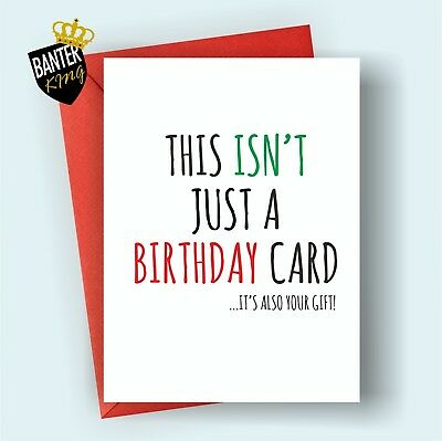 B98 Happy Birthday Greetings Card Rude Funny Cheeky Best Friend Brother Sister