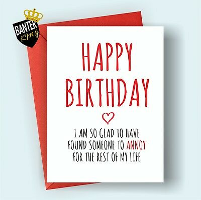 B99 Happy Birthday Greetings Card Boyfriend Girlfriend Rude Funny Adult Cheeky