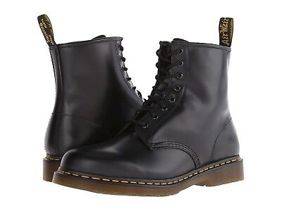 NEW Dr. Martens Men's Shoes 1460 8 Eye Leather Boots 11822006 Black Smooth