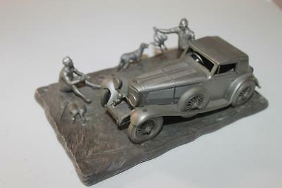 1977 Franklin Mint Fine Pewter The 1929 Mercedes Benz SSK Automoble Sculpture