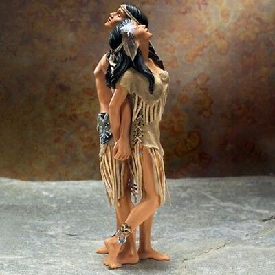Soul Mates Native Couple Figurine Power and Passion Lee Bogle Bradford Exchange