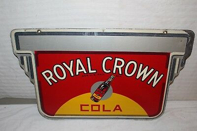 "Rare Vintage 1940's RC Royal Crown Cola Soda Pop Gas Oil 2 Sided 24"" Metal Sign"