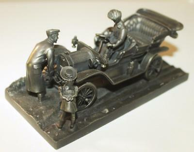 1976 Franklin Mint Fine Pewter The Wonderful Old Model T Sculpture