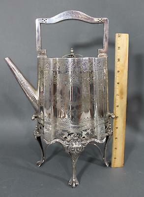 1890s Antique 19thC Sheffield English Walker & Hall, Teapot Burner Stand, NR