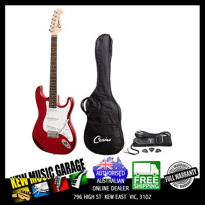 Casino St-Style Electric Guitar Set Candy Apple Red