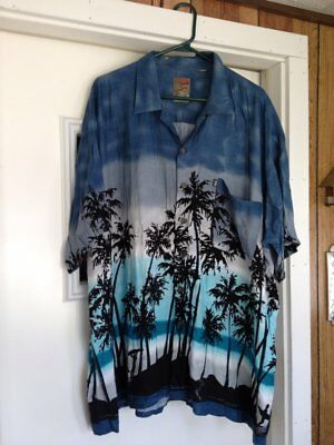 cc33c0a8 Pineapple Connection Men's Blue Hawaiian Shirt Plus Size???Size tag ripped  off