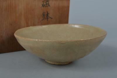 M3062: XF Korean Goryeo celadon BOWL w/box Tea Ceremony