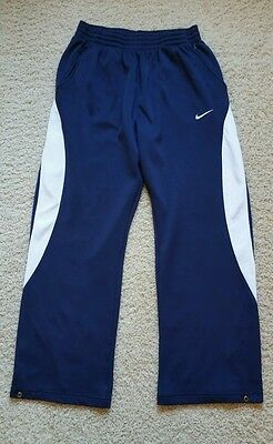 Men's Nike Team Athletic Running Training Basketball Gym Pants SZ XL Navy Blue