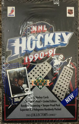 1990-91 Upper Deck NHL Hockey Factory Sealed Box of 36 Packs, Great RC's