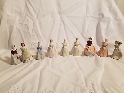 My Fair Ladies Porcelain Figurines Lot of 9 Red Marks