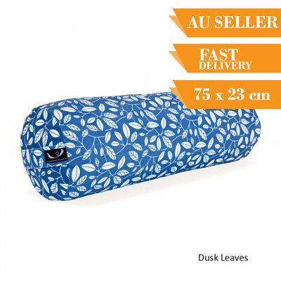 Organic Yoga Bolster Back Support Head Support Reading Bolster 75cm Dusk Leaves