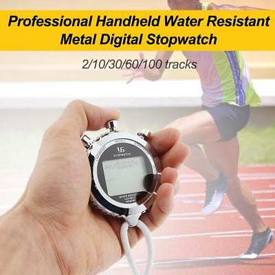 Chronograph Metal Digital Timer Stopwatch Sports Counter Waterproof Stopwatch