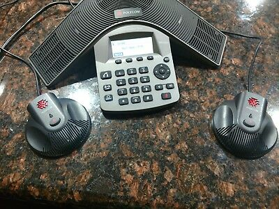 Polycom SoundStation Duo 2201-19000-001 POE Display HD Conference Station Phone