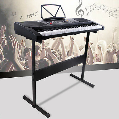 61 Key Black Music Electronic Keyboard Electric Digital Piano Organ with Stand