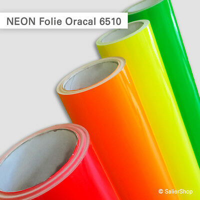 NEON Folie Oracal 6510 | gelb, orange, rot, grün | günstige Laufmeterpreise