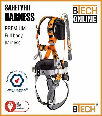 Safety Harness SAFETYFIT Work Positioning Fall Arrest Aust Compliance
