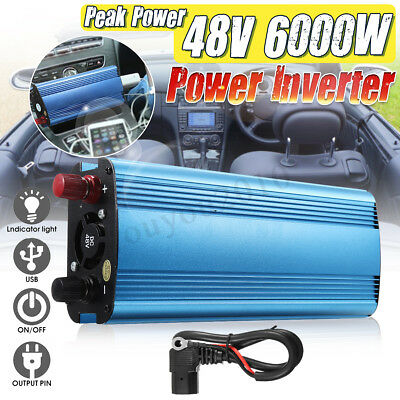6000/5000/4000/3000W Solar Power Inverter 12/24/48/60V To 220V Sine Wave Convert