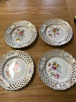 Meissen Artculated Plates Signed And Stamped Meissen