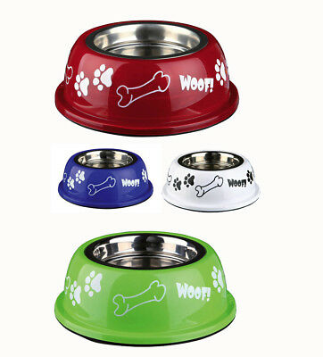 Dog Bowl Stainless Steel with Coloured outer Small - Large sizes Food or water