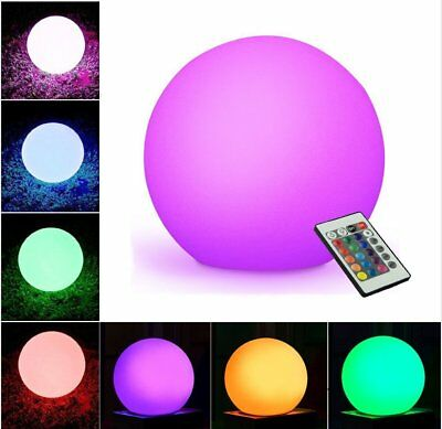 Waterproof LED RGB Color-Changing Ball Light Dimmable Lamp Lawn Light W/battery