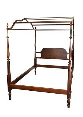 18146 Vintage Mahogany Country Style Period Type Canopy Bed Full Size