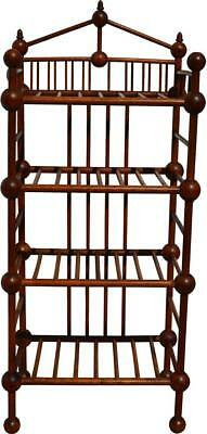 17100 Antique Unusual Stick and Ball Bookcase / Pie Rack