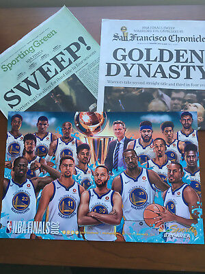 ddff86ede8f Golden State Warriors 2018 Finals Cheer Card   Golden Dynasty SF Chronicle