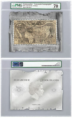 2018 Historical Maps Cosmographia Foil Note 30 g Silver PMG Gem Unc 70 SKU51837