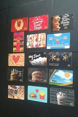 Lot of 15 McDonalds Arch Gift Cards, Collectible, Mint