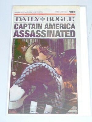 Daily Bugle Captain America Assassinated Marvel Comics 14Th March 2007 Nm (9.4)