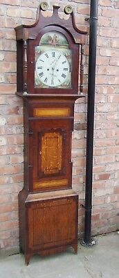 HOLY BIBLE Antique Longcase Grandfather Clock 8 Day CATTANEO STOCKTON