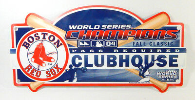 2004 World Series Champions Boston Red Sox Clubhouse Sign