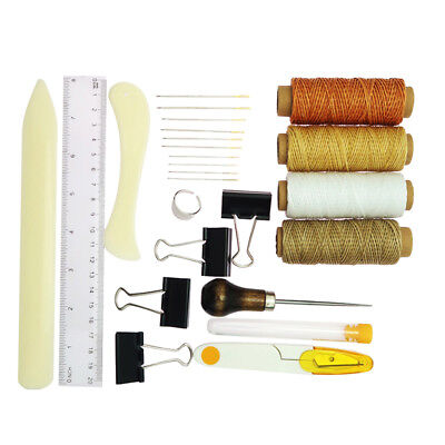 22Pcs Vintage Leather Craft Kit for Stitching Sewing Punch Working Hand Tool